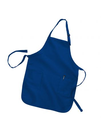 Q-Tees Full Length Apron with 2 Patch Pockets